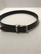 Chaps Black Or Brown Reversible Leather Belt Boys Size Medium 26-28