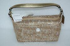 Authentic Coach Optic Gold Silver Purse Pocketbook Handbag Mint Unused 40958