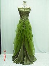 Cherlone Satin Vert ROBE DE SOIRÉE Robe De Mariée Demoiselle d'honneur T 52-54