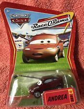 Disney Pixar Cars ~ ANDREA ~ RaceORama Series #89 1:55 Diecast Mattel