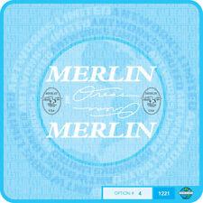 MERLIN USA zone Decalcomanie Bicicletta Trasferimenti Adesivi-Set 4-Bianco