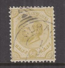 CURACAO, 1881 perf. 12 1/2 x 12, 60c. Olive Yellow, used.