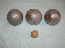 3 Boules de pétanque striées Obut Match: triplette + cochonnet, 730g, D 72cm
