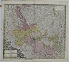 1745 Genuine Antique map Germany, Circuli Rhenani Inferioris. G.M. Seutter