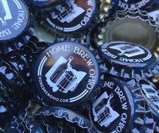 100 ((Home Brew Ohio)) {Uncirculated} // [Uncrimped] beer bottle Caps
