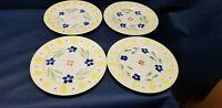 Vintage Royal Norfolk RNF72 Set/4  Dinner Plates Yellow/Blue