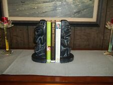 VTG AUSTIN PRODUCTS 1965 PAIR OF BOOKENDS ~  INUIT-MADE IN CANADA