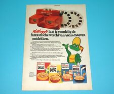 VIEW-MASTER MAGAZINE ADVERT 1970s DONALD DUCK HOLLAND KELLOG'S