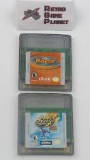 Road Champs BXS Stunt Biking & Razor Scooter (Nintendo Game Boy Color) Lot of 2