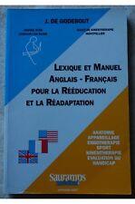 J De Godebout - Léxico y manuel Inglés-Francés para la rehabilitación y la Rea
