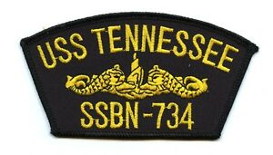 USS Tennessee SSBN-734 Embroidered Patch US Navy Nuclear Submarine Boomer (g)