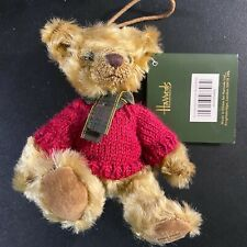 Harrods - Collectible Christmas Miniature Teddy Bear Ornament - New with TAG
