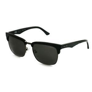 Police Men Sunglasses SPL354 V30P Black 55 18 140 Square Grey Polarized
