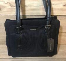 Francesco Biasia Black Suede And Leather Handbag Large Purse W Extras Adjule