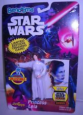 Justoys Star Wars Bend Em Princess Leia Action Figure VINTAGE CARDED RARE 1993