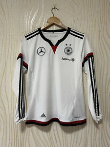 GERMANY 2014 2015 HOME FOOTBALL SHIRT SOCCER JERSEY LONG SLEEVE ADIDAS 697699 WO