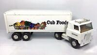 "Vintage 1980s Ertl Cub Foods Grocery Delivery Steel Truck Tractor Trailer 22"""