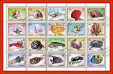 FUJEIRA 1972 MARINE LIFE Mini Sheet  (folded) FISH, CORALS, CRABS