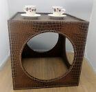 Tavolini in ecopelle design e materiali diversi per decorare casa