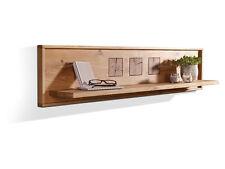 Massivholz Wandboard Regal 130 cm Holz Eiche Hängeregal WINSTON Wildeiche massiv