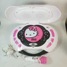 Hello Kitty Portable Light up CD Player w/ Microphone