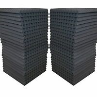 "48 Pack - Foam Acoustic Panels Studio Soundproofing Foam Wedge tiles 1""x12""x12"""
