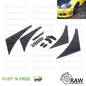 Carbon Fibre Style Bumper Canards Aero Downforce *UNIVERSAL* JDM Civic Glanza