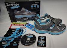 Skechers Tone Ups Gray Silver Women's Walking Fitness shoes Size 9 DVD 11751✔