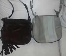 Lot of 2 Allsaints Mori Espresso & Casey Lea Crossbody Bags