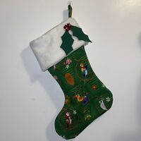 Disney Tiki Bird Handmade Christmas Stocking Holiday Green NEW 2020