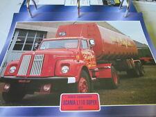 Super Trucks Hauben Zugmaschinen Schweden Scania L 110 Super 1972