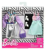 Barbie Fashions 2-Pack Clothing Set, 2 Outfits Doll Include Iridescent Sweatshir