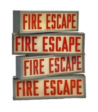 1 OF 4 1940'S VINTAGE AMERICAN INDUSTRIAL SALVAGED CHICAGO 'FIRE ESCAPE' SIGN