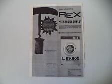 advertising Pubblicità 1964 LAVATRICE REX SUPERAUTOMATIC