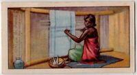 Native African Jukun Woman Weaving 80+  Y/O Ad Trade Card