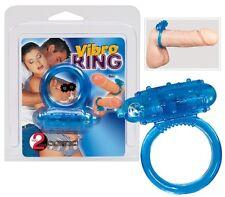 Anello fallico vibrante blu Vibro Ring Blue Sexy shop cock x ring vibrazione