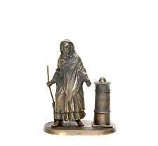 Vienna Style Bronze Zimmerman Maid with Broom Figure Match Holder
