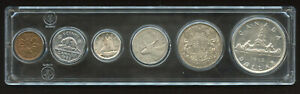 1952 Canada Complete Silver Coin Set with NICE Coins