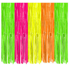 8ft Neon Door Curtain Stage Backdrop Glow In Dark 80s Birthday Party Decorations