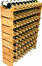 72 Bottle Stackable Modular Wine Rack Wine Storage Rack Solid Bamboo Wine Holder