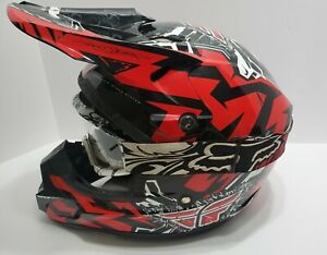 Fly Racing Helmet  Model 304 Jerry Lathrop Adult Small with Fox Goggles