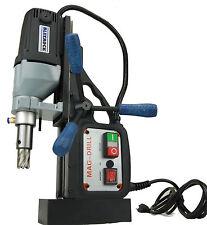 """BLUEROCK ® Magnetic Drill BRM-35A-B w/ 1"""" Annular Cutter Set - Mag w/ Broach"""