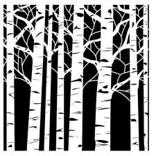 """Crafter's Workshop Template 12""""X12"""" Aspen Trees 842254003679"""