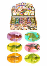 6 x MINI DINO DINOSAURO UOVO in lordo yucky KIT-Lotto di partito Bag Toy N14 080