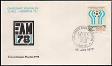 SOCCER-COVER-ARGENTINA 1978-COVER WITH SPECIAL CANCELLATION-