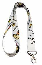 """Peanuts Series Snoopy, Woodstock, and Charlie Brown 19"""" Lanyard Badge Holder"""