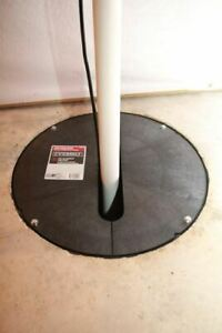 """18"""" Pedestal Submersible Sump Pump Basin Hole Cover Slotted Lid Pre-cut Opening"""