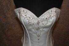 Romantisches zweiteiliges Brautkleid mit Korsage und Schnürung Gr.46