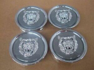 Jaguar Grey Wheel Badge Emblem Center Hub Cap Set Of 4 MNA6249GA Fits 1988-2012