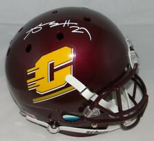 ANTONIO BROWN SIGNED AUTOGRAPHED CENTRAL MICHIGAN CHIPPEWAS FULL SIZE HELMET JSA